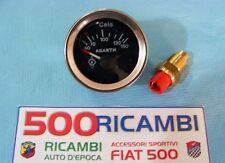 FIAT 500 F/L/R 126 KIT STRUMENTO TEMPERATURA OLIO ABARTH + BULBO INTICATORE NERO