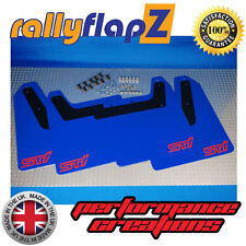 rallyflapZ SUBARU IMPREZA Hawkeye(01-07)Mud Flaps WR Blue STi (sml) Red 4mm PVC
