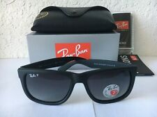 New Ray Ban Justin Wayfarer Polarized RB4165 622/T3 Matte Black Grey Size 54mm