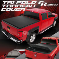 "72"" SHORT BED BLACK VINYL SOFT TOP TRI-FOLD TONNEAU COVER FOR 83-11 FORD RANGER"