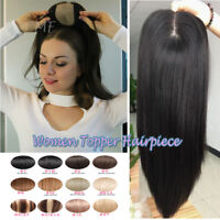 Popular Clip in Real Human Remy Hair Topper Hairpiece Top Piece Toupee for Women