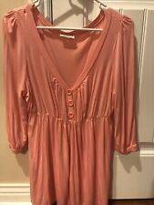 NWT Soft Pink Knit Tunic By MKM Designs/12-14/large Women's