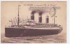 CPA  BATEAU  PAQUEBOT ILE DE FRANCE  Le Havre