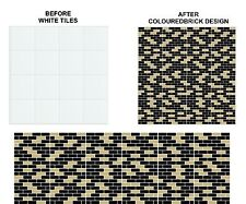 """Mosaic Brick Tile Stickers Transfers for 148mm x 148mm / 150mm x 150mm / 6"""" x 6"""""""