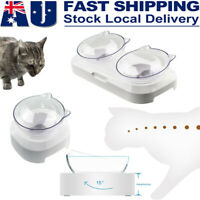 Double Raised Pet Bowl Cat Dog Feeder Food Water Elevated Lifted Stand Bowls AU