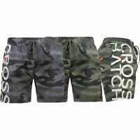 Crosshatch Mens Camo Swimming Shorts Army Beach Swim Mesh Quick Dry Trunk Casual
