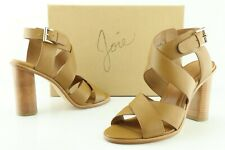 JOIE Avery Women's US 8 Black Leather Buckle Ankle Strap Sandals High Heels D277