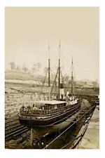 ss LEICHARDT in Brisbane Dry Dock c1879 Modern Digital Photo Postcard