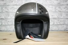 Moto Guzzi Chess Grey Open Face Motorcycle Helmet