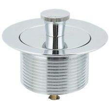 Chrome-Plated Brass Foot Lock Tub Drain Stopper