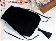 Civil War Victorian Bridal Party Special Occasion Black Velvet Reticule Purse