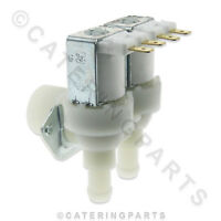 """UNIVERSAL ANGLED WATER INLET FILL SOLENOID VALVE 230v 3/4"""" BSP DUAL TWIN OUTLET"""