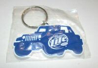 Vintage Miller Lite Jeep Wrangler promo souvenir keychain PVC/rubber/plastic