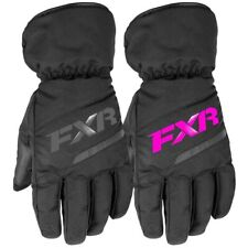 FXR Youth Child Octane Insulated Fleece Snowmobiling Glove - Black or Fuchsia