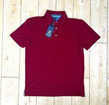 Mens Tommy Hilfiger TH Tech Rhubarb Red Golf Polo Shirt New US M RRP £50