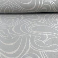 Grandeco Casa Doria Abstract Pattern Metallic Pearl Motif Vinyl Wallpaper Grey