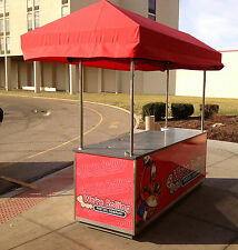 Concession style Food cart with canopy - sink, electric, hot & cold water - Nsf