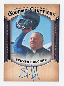 2014 Goodwin Champions Autograph Steven Holcomb Olympic Bobsledding USA RIP