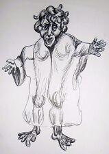 Drawing original pen ink contemporary Art Pronkin 1981 surrealism , FORTUNE