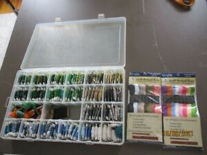 EMBROIDERY FLOSS LOT IN PLASTIC BOX--2 NEW PACKAGES OF 8 SKEINS EACH