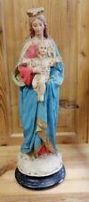 """antike Gips-Marienfigur """"MADONNA """" 54 cm gefasst ~1900"""