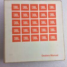 JBL Dealers Manual Binder with inserts  Original