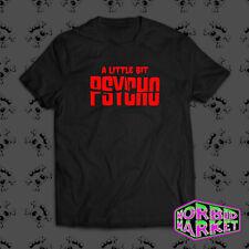 Para hombre un poco Psycho T-Shirt parodia Gotico Goth Punk Halloween Horror Emo