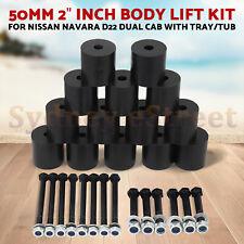 "50mm 2"" inch Body Lift Kit Bolts Blocks For Nissan Navara D22 Dual Cab Tray Tub"