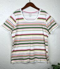Women's White Stag 100% Cotton Pull Over Shirt Size XL Multicolor