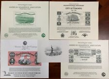 United States American Bank Note Souvenir Cards SO35-39 1984 Mint