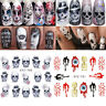 5 Sheets Nail Art Water Decals Halloween own Skull Nail Water Transfer Sticker
