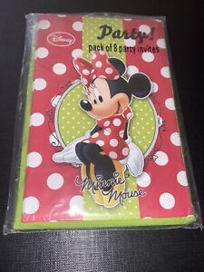 Minnie Mouse Party Invites. 8 Party Invitations - Disney - Party Invite Cards