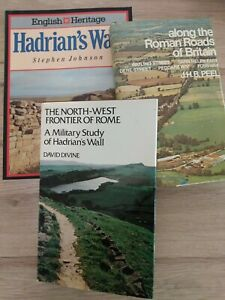 3 books on Hadrians wall. A military study, along the Roman roads and guide