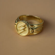 DC Comics The Flash TV Reverse Flash Ring 925 Silver Ring 18K Gold Plated 7-11#