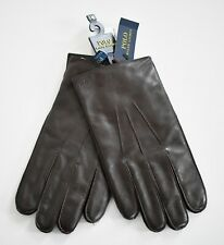 New POLO RALPH LAUREN 3M THINSULATE Brown Genuine LEATHER Men's Gloves L