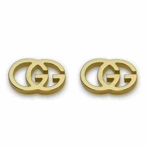 Gucci GG Tissue Screw Back Earrings For Women Fine Jewelry