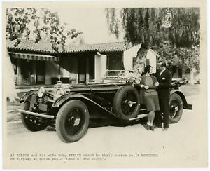 Al Jolson & Ruby Keeler w/ 1928 Mercedes 26/120/180 Type S Original Photograph