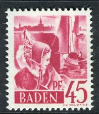 GERMANY ALLIED OCC BADEN;   1947 early pictorial Mint MNH unmounted 45pf.