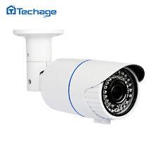 Techage H.265 1080P 2.0MP HD Security POE IP Camera Onvif Varifocal Zoom Lens IR