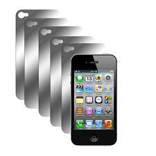 5x Rückseite Spiegelfolie iPhone 4 4S Hinten Schutzfolie Mirror Screen Protector