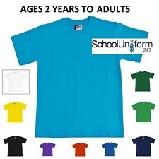 Zeco Boys Girls Adults Quality Plain School T Shirts Gym PE 2-13 yrs S M L XL
