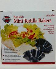 Norpro Mini Tortilla Bakers Nonstick 2 Piece Set Low Fat Tortilla Bowls