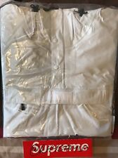 Supreme Con Cinta Costura Anorak blanco XL Bogo CAJA con LOGOTIPO Chaqueta Abrigo Pullover