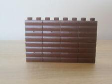 8 x LEGO DUPLO STEIN MAUER  BRAUN 2 x 1 2er NOPPEN WAND WANDSTEIN 10827