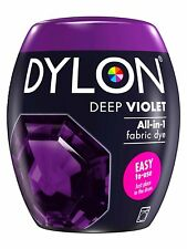 DYLON Textilfarbe Dunkel Violett Farbe & Fixierer für 600g Stoff fabric dye LILA