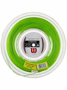 New Wilson Sensation  16G/1.3 MM Tennis string 200M REEL Green  Power Comfort