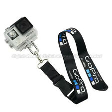 GoPro Hero 5 4 3+ SJ Camera Housing Case Neck Strap Lanyard Sling Stainless Hook