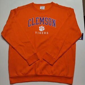 Clemson Tigers Paw Print Logo Men's 2XL Champion Pullover Orange Sweatshirt NEW