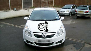 LARGE Betty Boop vauxhall bonnet girls vinyl graphics decal car side sticker