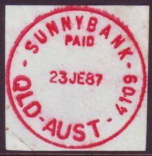 "QUEENSLAND POSTMARK ""SUNNYBANK PAID"" CDS IN RED"